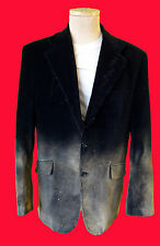 VELVET fade black disco Gothic steampunk XL tuxedo lounge smoking destroyed punk