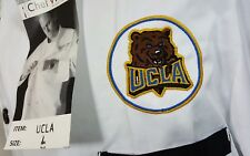 Chef Works Men's Ucla Bruins 3/4 Sleeve Chef Coat Black/white L Culinary Cook