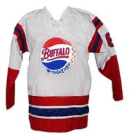Any Name Number Size Buffalo Bisons Retro Custom Hockey Jersey White