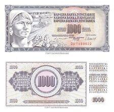 Yugoslavia 1000 Dinara 1981 P-92d Banknotes UNC