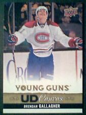 BRENDAN GALLAGHER  13/14 AUTHENTIC UDS1 CANVAS YOUNG GUNS CARD  SP