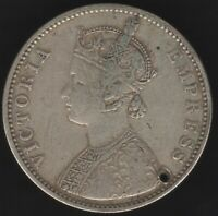 1877 B British India Silver Rupee 'Holed' | World Coins | Pennies2Pounds