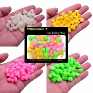 100 PCS Colored Pop Up Carp Fishing Boilies Flavoured Grass Bait Floatin Quality