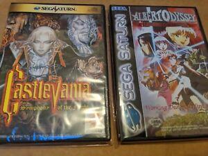 Sega Saturn Castlevania Symphony of the Night Case & Albert Odyssey Bundle