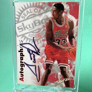 Scottie Pippen rare Skybox Autographics 1997 Chicago Bulls Auto *Please Read*