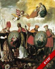 HUNGARIAN SAINTS ALTAR PAINTING CHRISTIAN HUNGARY HISTORY ART REAL CANVAS PRINT