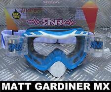 RIP'N'ROLL MOTO MX ENDURO lunettes de protection hybride RnR NEUF PACIFIC BLEU