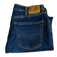 Men's Levi's 505 Jeans Size 38x30 Red Tab 100% Cotton Med-Dark Blue