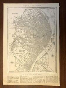 1917 St. Louis, MO Map, Encyclopedic Atlas and Gazetteer