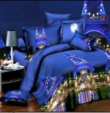 4pcs Suit 3D Reactive Dyeing Polyester Fiber Bedding Sets Queen King Size Paris