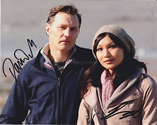 David Morrissey & Gemma Chan HAND SIGNED 8x10 Photo, Dr Who, Humans, Autograph
