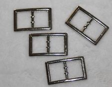 "Lot 12 silver metal mini BELT BUCKLE Buckles 1/2"" 1"" Doll Craft Sewing g28 g"