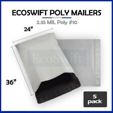5 24 X 36 Large White Poly Mailers Shipping Envelopes Self Sealing Bags 235 Mil