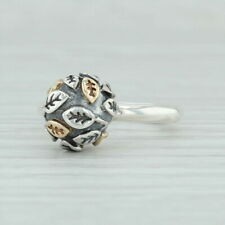 Authentic Pandora Tree of Life Ring- 190139 Rare Sterling Silver 18k Gold Size 5