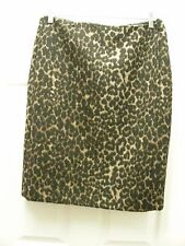 Ladies Skirt - Talbot's - Black/Brown Animal Print - Poly/Laine Blend - Sz 12