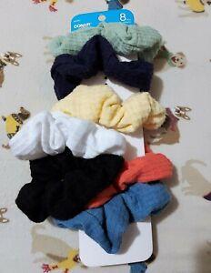 CONAIR 7 Piece Pony Wraps - Hair Scrunchies: Pretty Pastels & Black, White, Navy