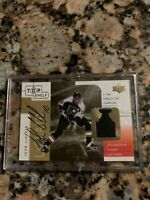 2001 Upper Deck Top Shelf John LeClair Patch/Auto SP 3/100 - Flyers Great