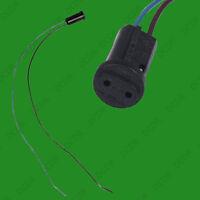 2x G4 Base Black Lamp Holder Socket Cable, Halogen, LED Bulb Down Light Fitting