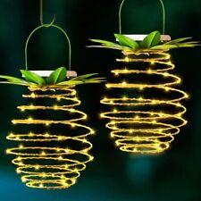 Solar Powered Pineapple Hanging LED Lights Waterproof Garden Outdoor Decor