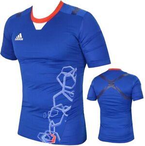Adidas Techfit TPU Powerweb X Herren Kompression Shirt Sport Unterziehshirt blau