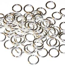 M682f Silver-Plate 7mm 18-Gauge Round Jumpring Jewelry Finding Compnent 100/pkg