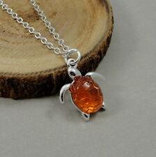 Silver Sea Turtle Necklace - Nautical Ocean Sea Tortoise Charm Jewelry NEW