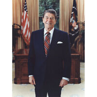 Official Portrait Photograph President Ronald Reagan USA Canvas Art Print Poster