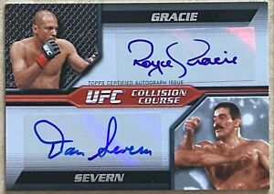 2011 Topps UFC Moment of Truth Collision Course Dual Autographs Gracie/Severn