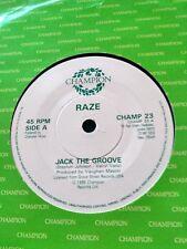"Raze Jack The Groove  7"" Vinyl 1986 Champion House / Rave"