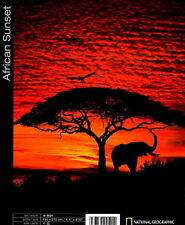 African Sunset Photo Wall Mural Elephant Silhouette National Geographic