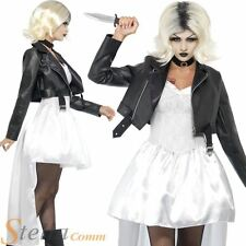 Ladies Bride Of Chucky Halloween Fancy Dress Costume Womens 80s Adult Outfit