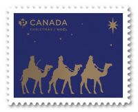 MAGI TRAVELING = CHRISTMAS = DIE CUT stamp from Quarterly Pack Canada 2019 MNH