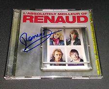 Autographe RENAUD sur CD L'absolutely Meilleur Of Renaud - Obtenu en personne