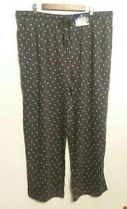 NWT Men's STAFFORD SLEEP PANTS Soft Size XXL Classic Fit Drawstring Pockets