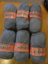 Reynolds Versailles Baby Blue 6 Skeins Knit Crochet Yarn France Wool Blend