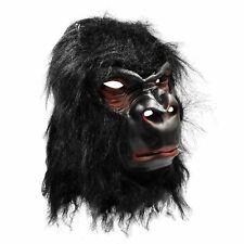 Deluxe Rubber Gorilla Mask Zoo Animal Fur Latex Monkey Ape Overhead Costume BN