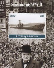 SUBMARINES OF WWII WINSTON CHURCHILL TCHAD 2016 MNH STAMP SHEETLET