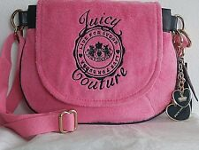 JUICY COUTURE LIVE FOR SUGAR PINK & NAVY BLUE CROSSBODY BAG RETIRED WITH KEY FOB