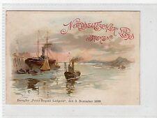 NORDDEUTSCHER LLOYD, BREMEN: Early Germany shipping postcard (C19697)