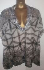 TIE DYED SHEER BEACH COVER UP BNWT  SIZE MEDIUM