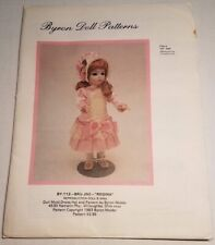 "Byron Doll Patterns By-112 Bru Jne 9 ""Regina"" Fits 14"" Dolls Head to Toe,Uncut"