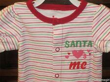 NWT/Infant Girls 3 MOS/SANTA LOVES ME Sleeper/CIRCO/Stripes/Brand New/Perfect!