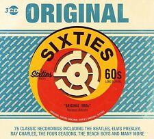 75 Classic ORIGINAL SIXTIES 3 x CDs Beatles Elvis Beach Boys Drifters Sam Cooke