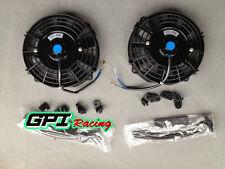 "2 × 7"" inch Universal Electric Radiator RACING COOLING Fan + mounting kit"