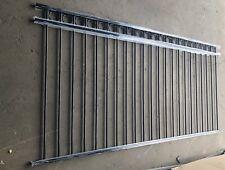 Aluminium 21 Ring Top Fencing /Garden Fence - Black 2.4m x 1.2m
