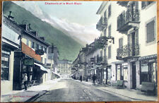 1908 Switzerland Postcard: Chamonix and Mont-Blanc