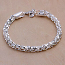 Free shipping wholesale sterling solid silver fashion chain Bracelet XLSB070
