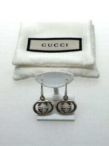GUCCI Earrings GG Top length 1.5cm Top side 1.7cm Ladies Accessories Authentic