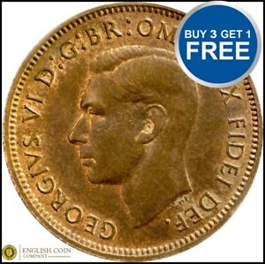 FARTHING COIN CHOICE OF YEAR 1937 TO 1952 GEORGE VI