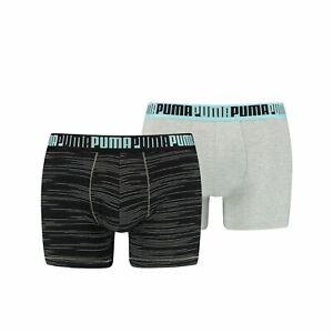 Puma Herren Boxershort  SPACEDYE STRIPE BOXER 2er Pack S M L XL Kariert Uni